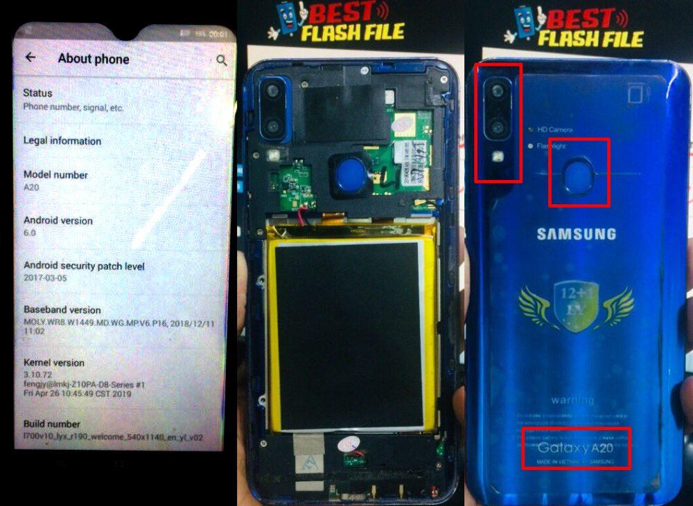 Samsung Clone A20 Flash File 3
