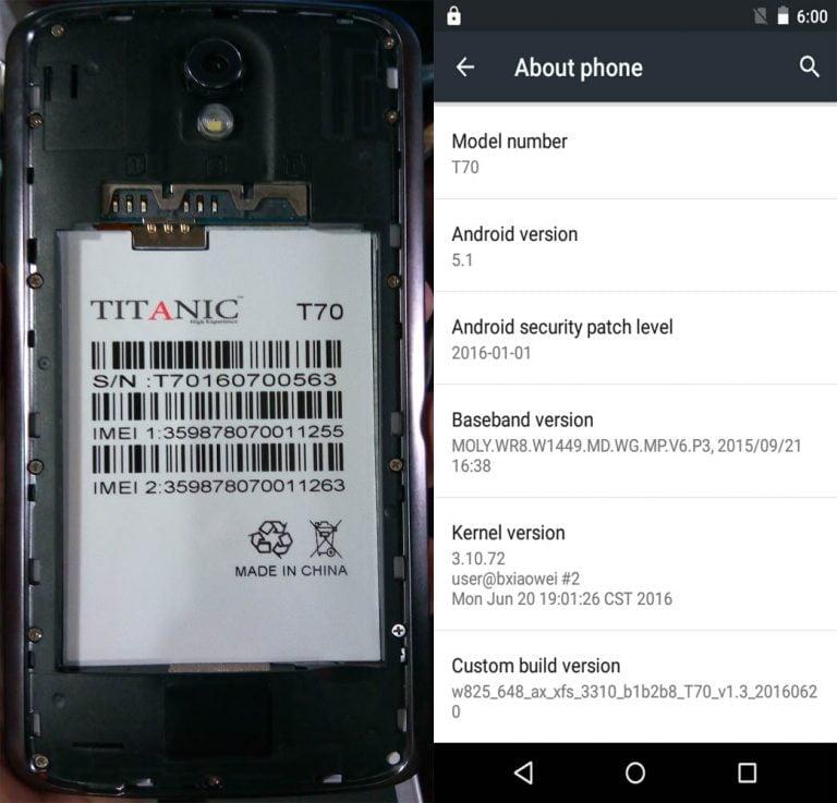 Titanic T-70 Flash File 100% Tested Firmware 6