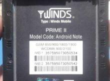 Winds Mobile Prime ii Flash File 1
