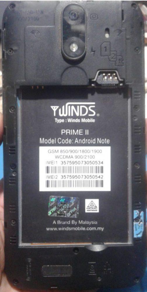 Winds Mobile Prime ii Flash File 3