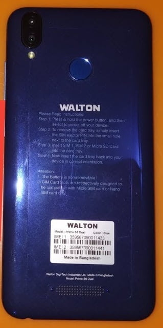 Walton Primo S6 Dual Frp reset File 40MB Frp lock File 3