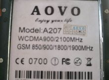 Aovo A207 Flash File | Firmware 1
