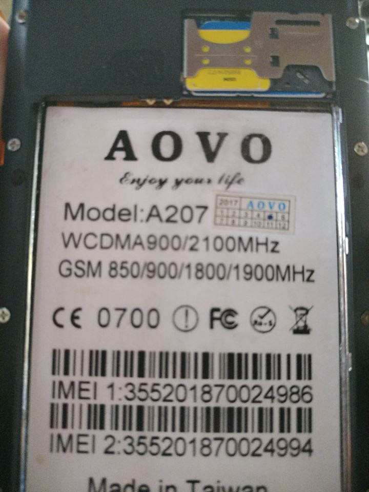 Aovo A207 Flash File | Firmware 3