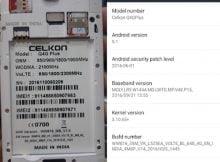 Celkon Q4G Plus Flash File Firmware