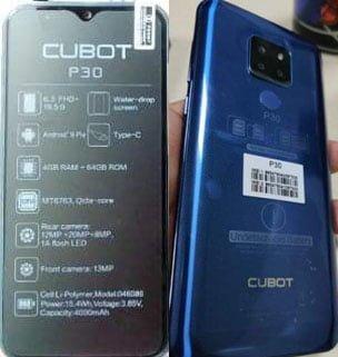 Cubot P30 Flash File 3