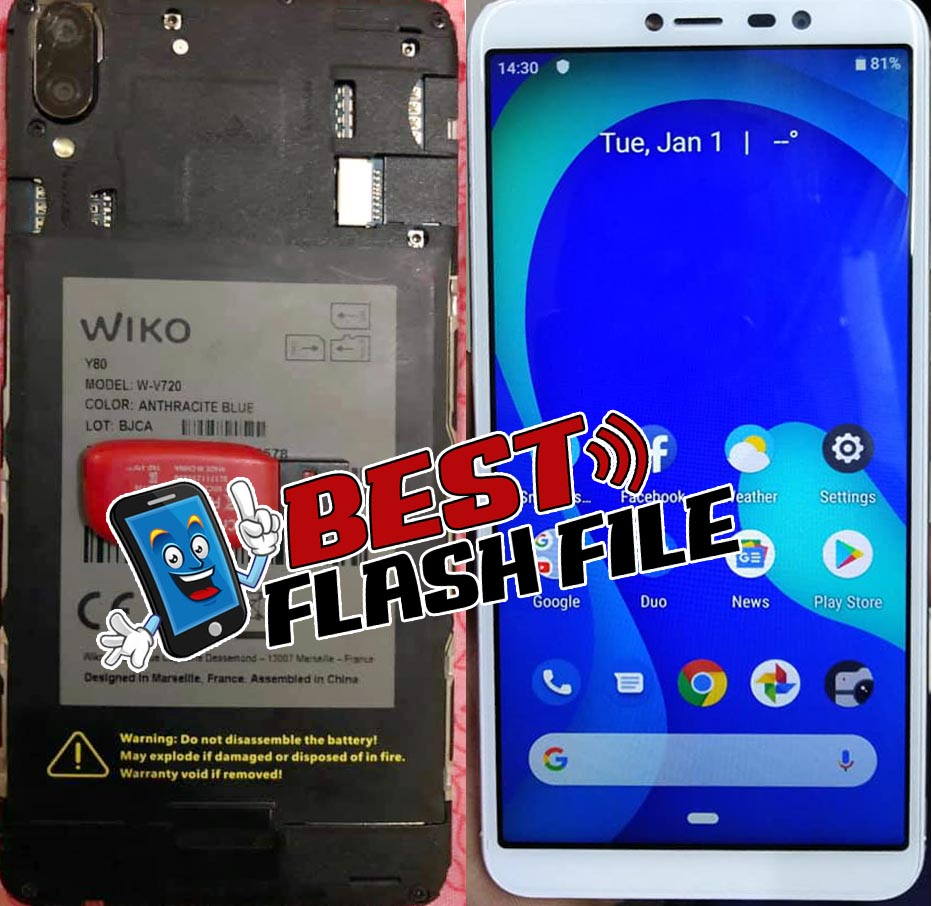 Wiko Y80 Flash File Firmware