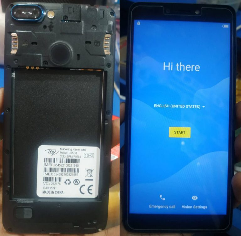 iTel A46 L5503 Flash File 100% Tested Firmware 3