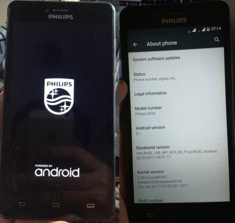 Philips S326 Flash File Firmware