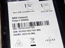 Vodafone Kicka 5 Firmware