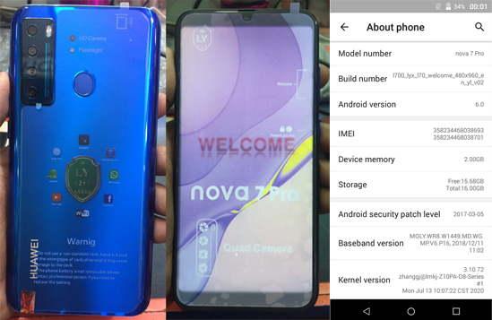 Huawei Clone Nova 7 Pro Flash File Tested Firmware