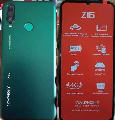 Symphony Z16 Flash File Tested Firmware