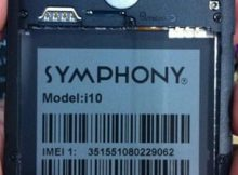 Symphony i10 Flash File Dead recovery Firmware