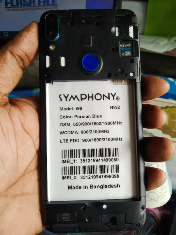Symphony i99 flash file firmware,