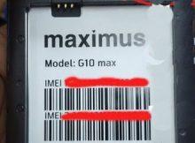 Maximus G10 Max flash file firmware,