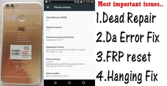 We X3 Flash File Care Firmware & Da Error Fix