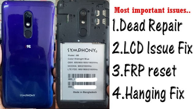 Symphony i98 Flash File Tested Firmware