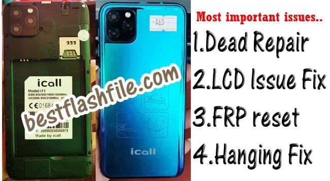 iCall i11 Flash File Tested Firmware