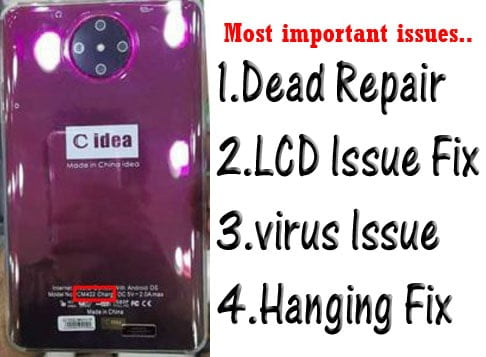 C Idea CM422 flash file firmware,