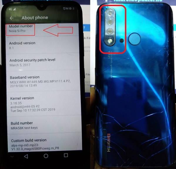Huawei Clone Nova 5i Pro flash file firmware,