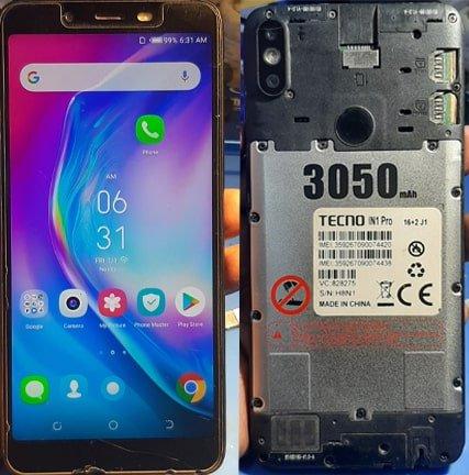 Tecno IN1 Pro flash file firmware,