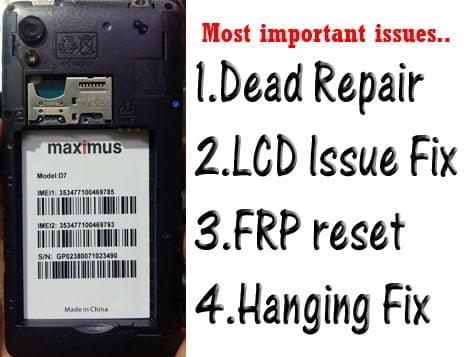 maximus d7 flash file firmware,