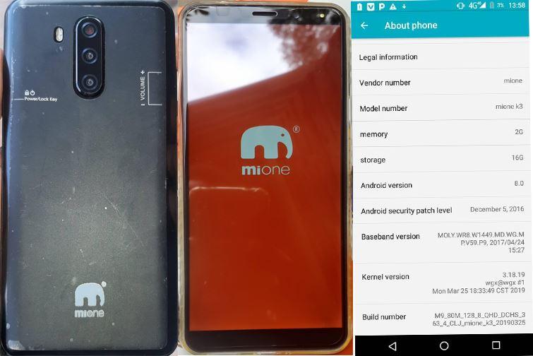 Mione K3 flash file firmware,