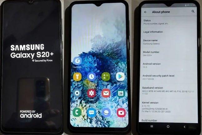 Samsung CLone S20+ flash file firmware,