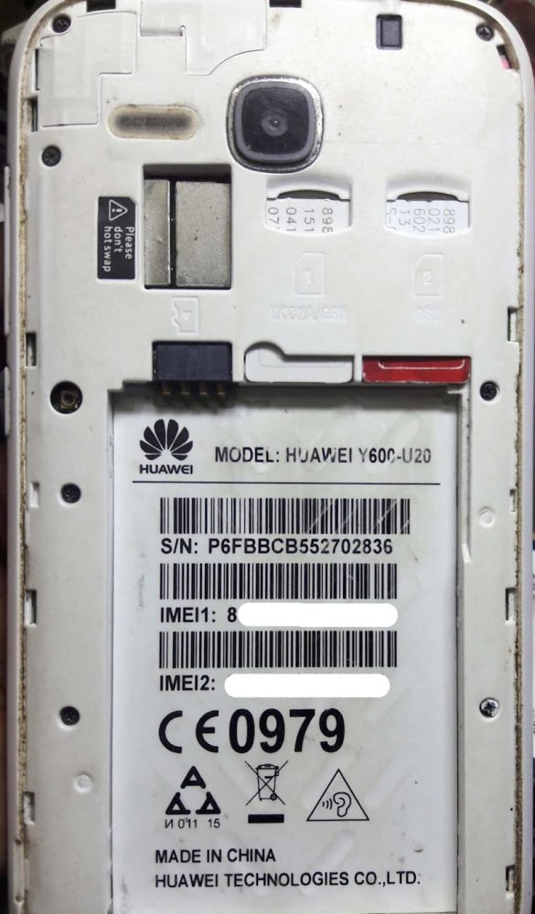 Huawei Y600 U20 Flash File