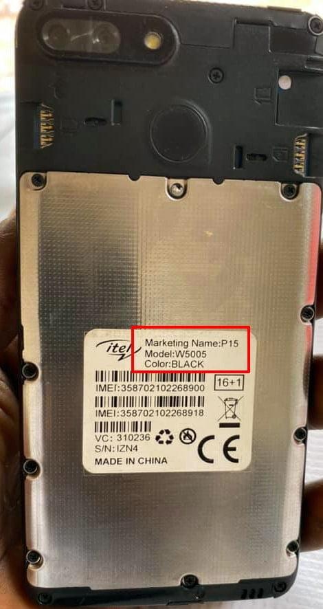 iTel P15 W5005 flash file firmware,