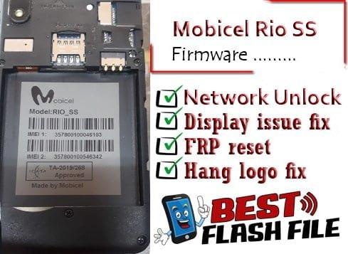 Mobicel Rio SS flash file firmware,