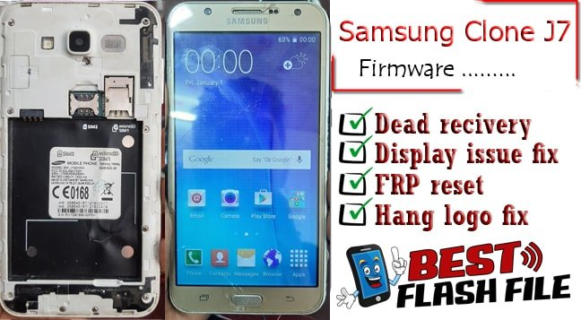 Samsung Clone J7 flash file firmware,