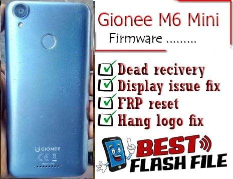 Gionee M6 Mini flash file firmware,