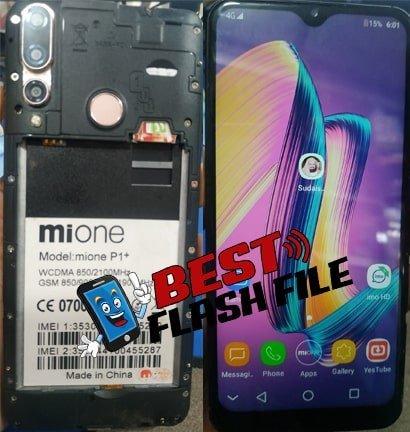 Mione P1+ flash file firmware,