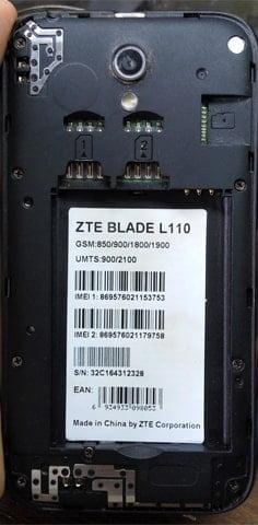 ZTE Blade L110 flash file firmware,