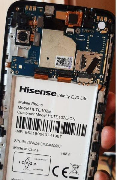 Hisense Infinity E30 Lite flash file firmware,