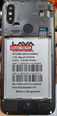 Lava Y50 Pro flash file firmware,