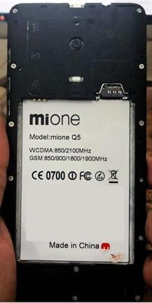 MiOne Q5 flash file firmware,