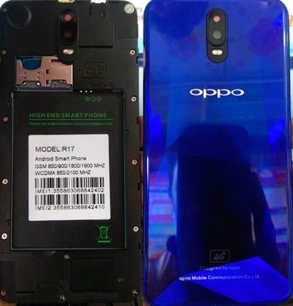 Oppo Clone R17 flash file firmware,