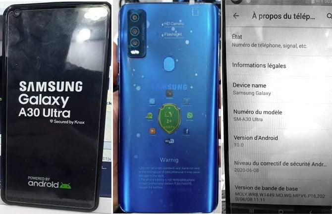 Samsung Clone A30 Ultra flash file firmware,
