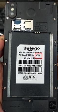 Telego J589 (GX) flash file firmware,