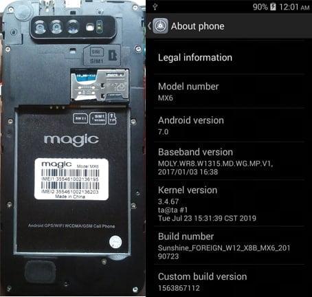 Magic MX6 flash file firmware,