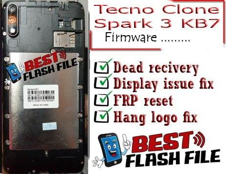 Tecno Clone Spark 3 KB7 flash file firmware,