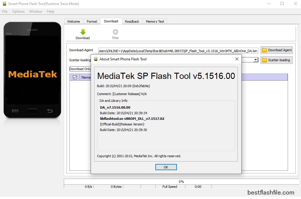 SP Flash Tool v5.1516 Download Latest Version For PC ,