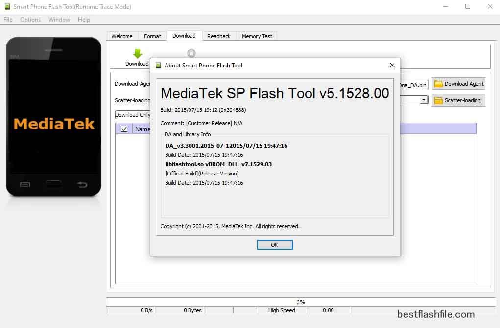 SP Flash Tool v5.1518