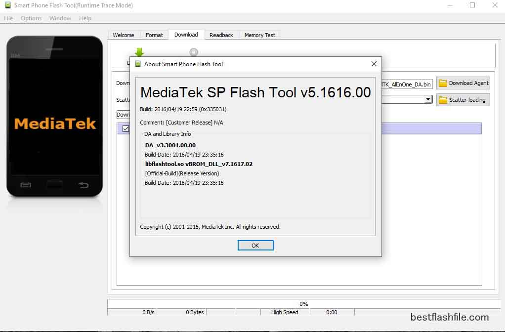 SP Flash Tool v5.1616 Download Latest Version For PC