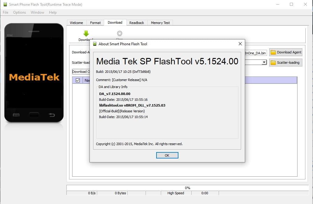 SP Flash Tool v5.1524