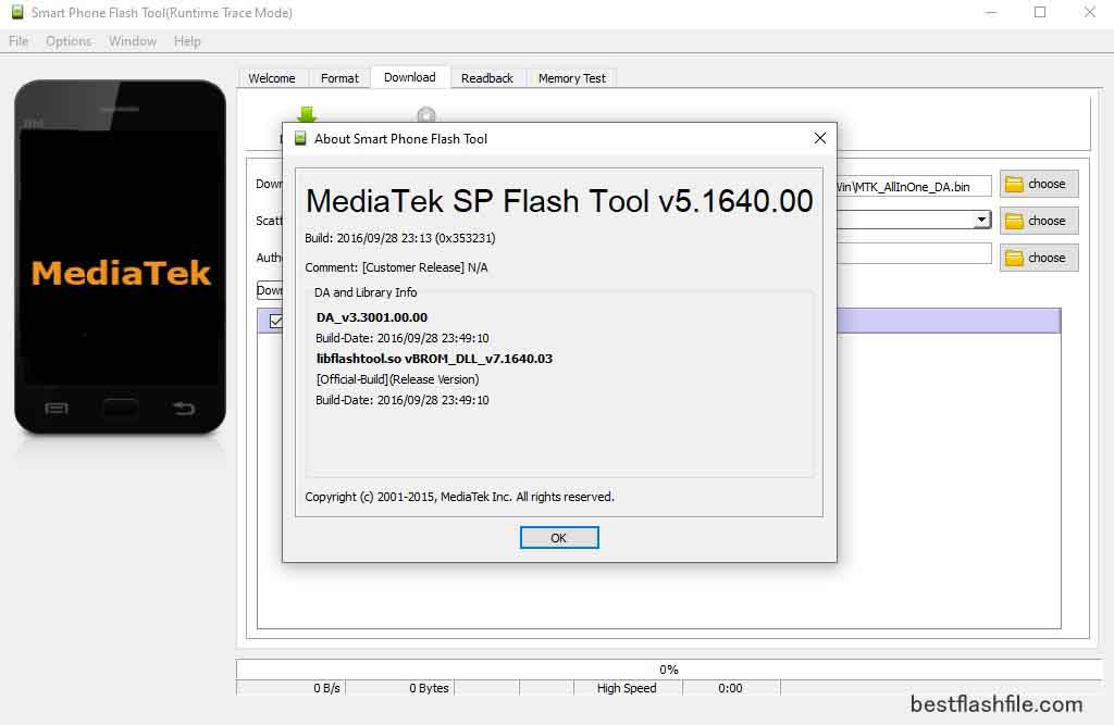SP Flash Tool v5.1640 Download Latest Version For PC