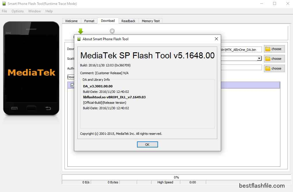 SP Flash Tool v5.1648 Download Latest Version For PC