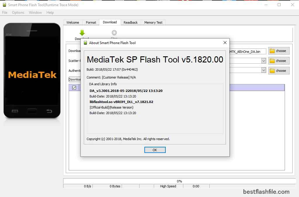 SP Flash Tool v5.1820 Download Latest Version For PC