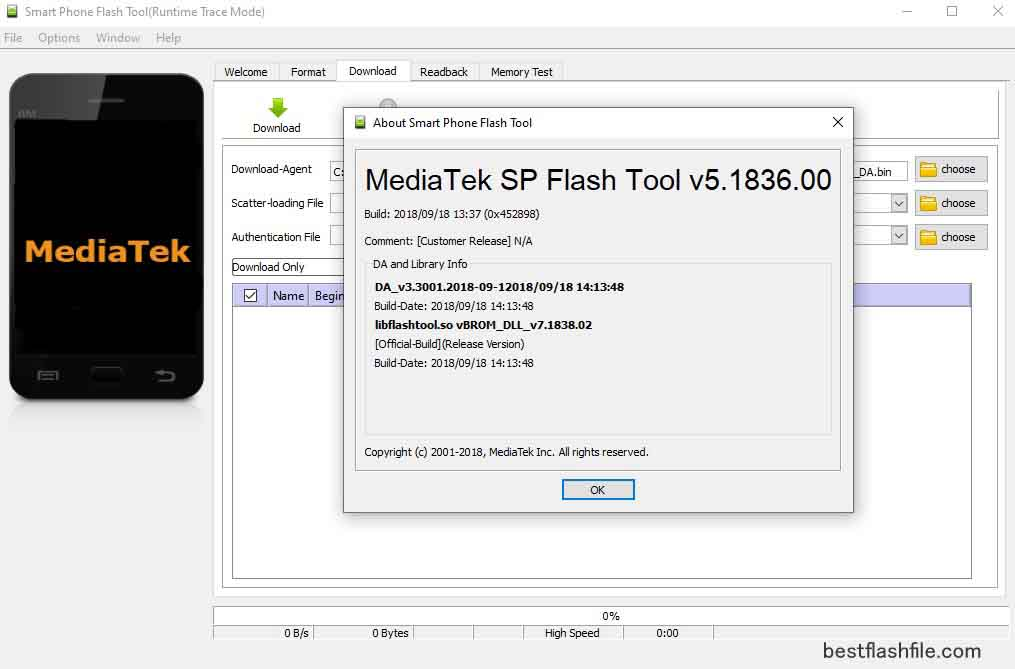 SP Flash Tool v5.1836 Download Latest Version For PC